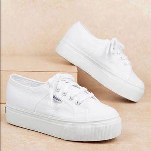 NEW Superga Platform Canvas Sneakers